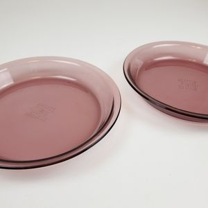 Set of 2 vintage pyrex pie plates/dishes, 209